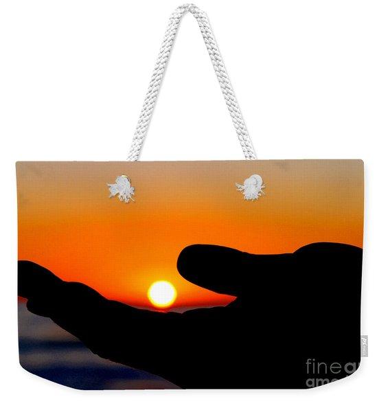 In His Hands By Diana Sainz Weekender Tote Bag