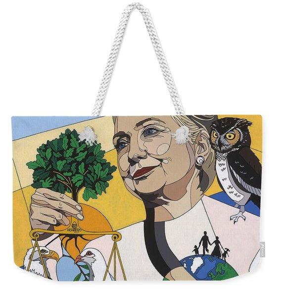 In Honor Of Hillary Clinton Weekender Tote Bag