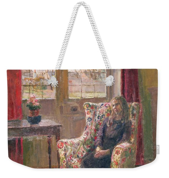 In The Armchair By The Window Weekender Tote Bag