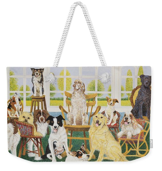 In The Dog House Weekender Tote Bag