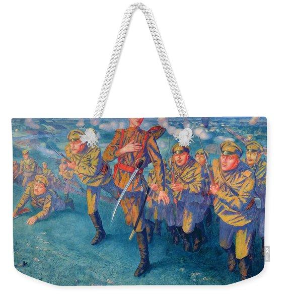 In The Firing Line Weekender Tote Bag