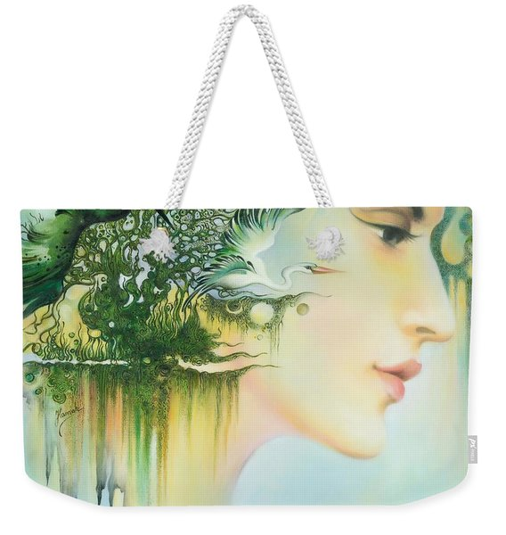 In The Fluter Of Wings-in The Silence Of Thoughts Weekender Tote Bag