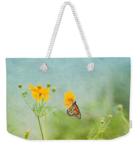 In The Garden - Monarch Butterfly Weekender Tote Bag