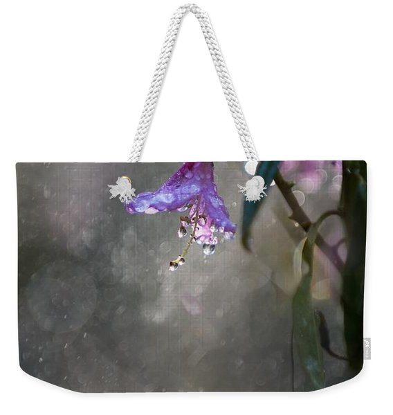Weekender Tote Bag featuring the photograph In The Morning Rain by Jaroslaw Blaminsky