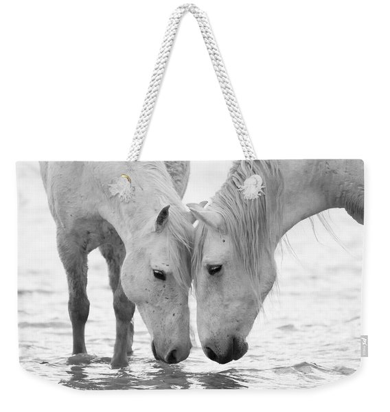 In The Water At Dawn II Weekender Tote Bag