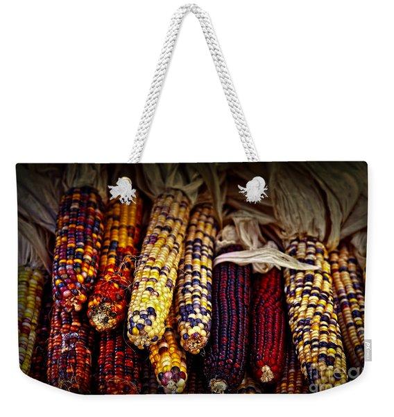 Indian Corn Weekender Tote Bag