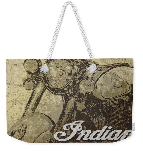 Indian Motorcycle Poster Weekender Tote Bag