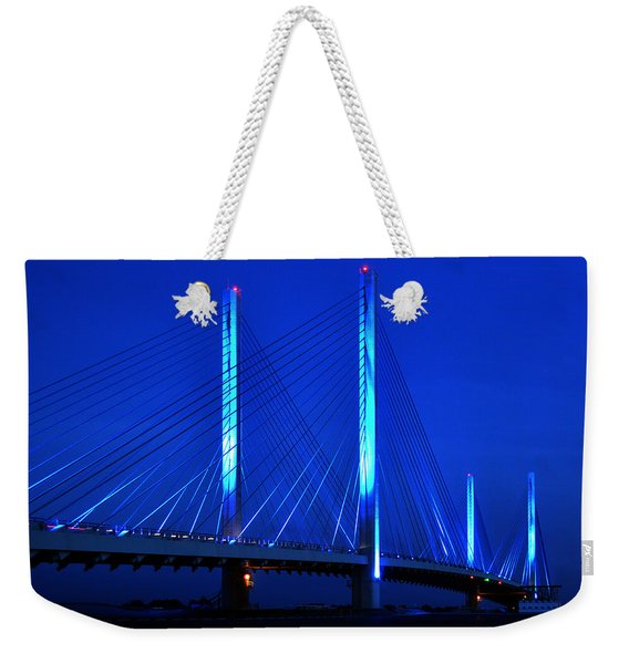 Indian River Bridge At Night Weekender Tote Bag