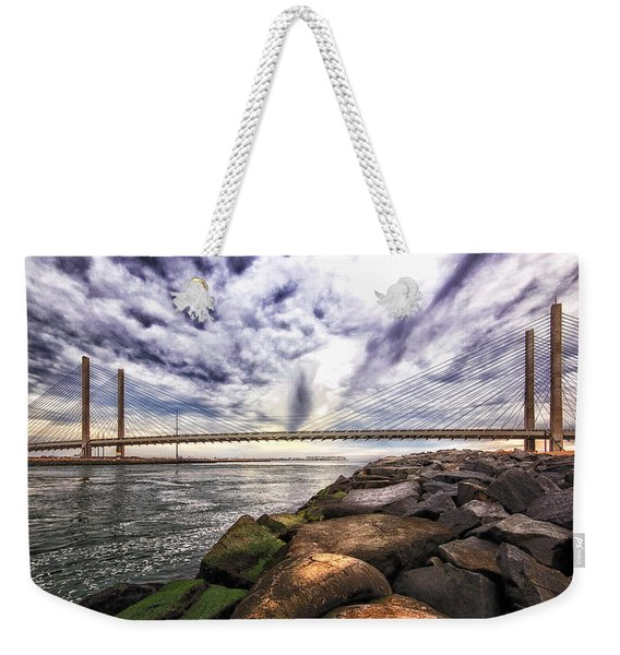 Indian River Bridge Clouds Weekender Tote Bag