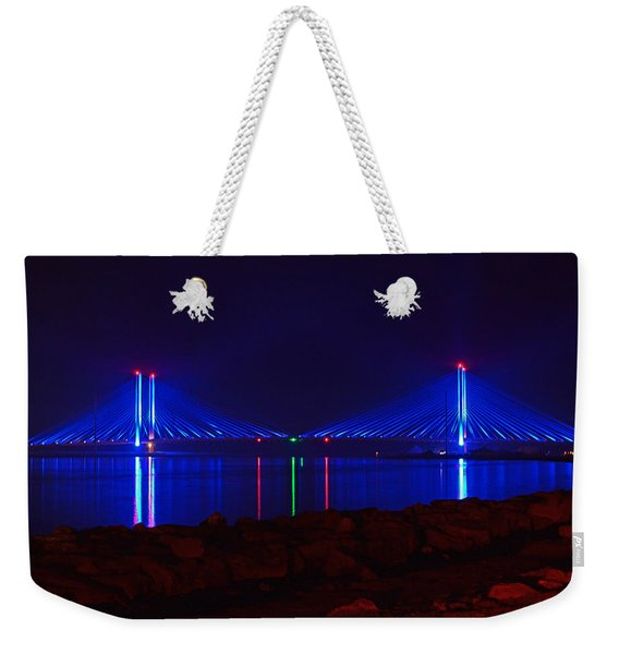Indian River Inlet Bridge After Dark Weekender Tote Bag