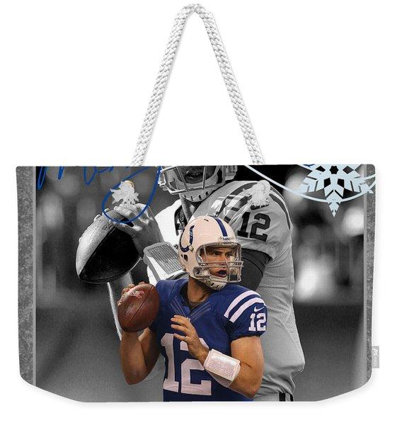 Indianapolis Colts Christmas Card Weekender Tote Bag