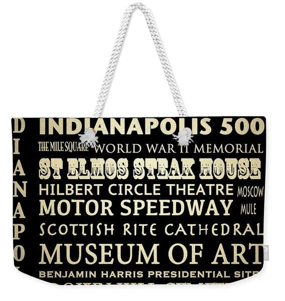 Indianapolis Famous Landmarks Weekender Tote Bag