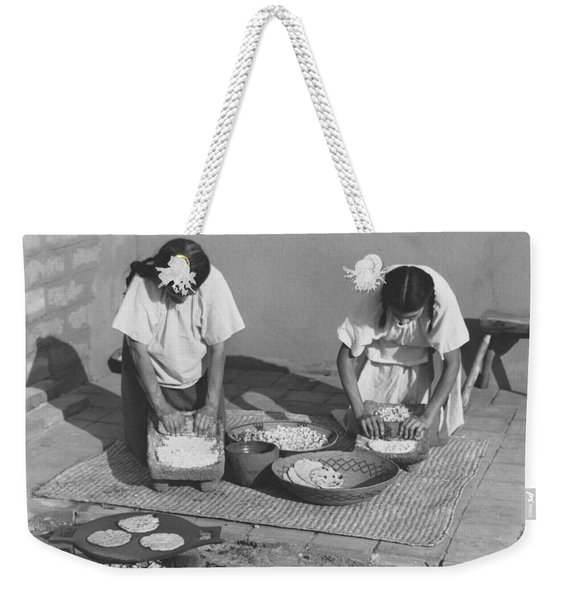 Indians Making Tortillas Weekender Tote Bag