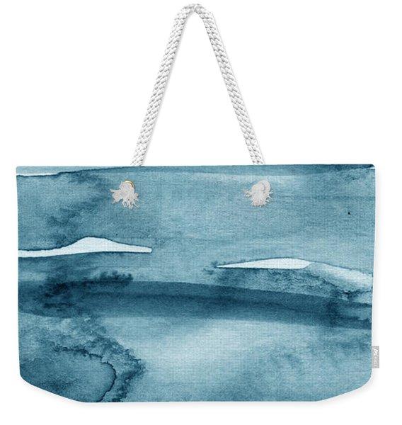 Indigo Water- Abstract Painting Weekender Tote Bag