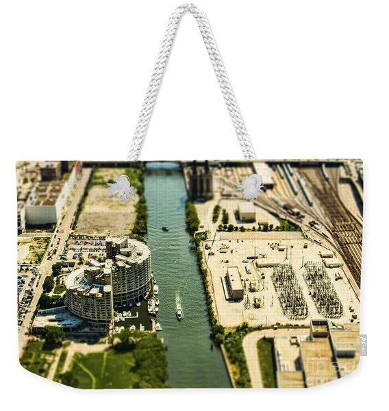 Industrial Riverside Weekender Tote Bag