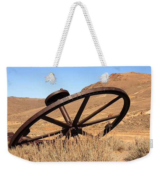 Industrial Wheel Weekender Tote Bag