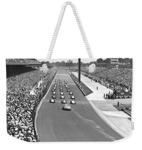 Indy 500 Parade Lap Weekender Tote Bag