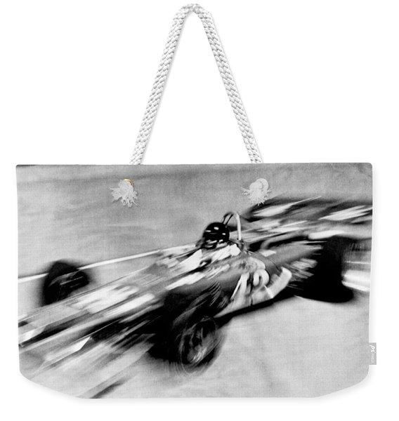 Indy 500 Race Car Blur Weekender Tote Bag