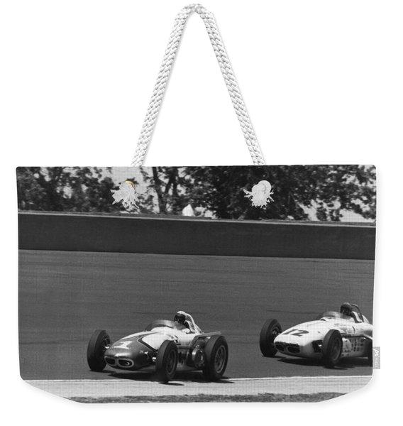 Indy 500 Race Cars Weekender Tote Bag