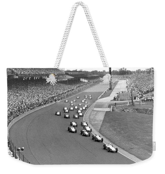 Indy 500 Race Start Weekender Tote Bag