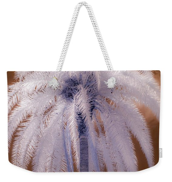 Infrared Palm Tree Weekender Tote Bag
