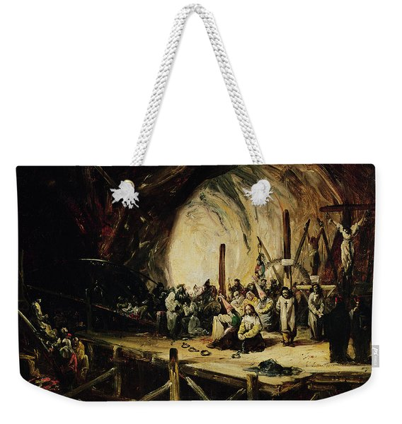 Inquisition Scene, 1851 Oil On Canvas Weekender Tote Bag