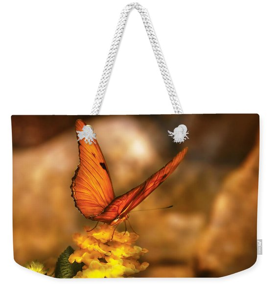 Insect - Butterfly - Just A Bit Of Orange  Weekender Tote Bag
