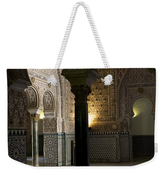 Weekender Tote Bag featuring the photograph Inside The Alcazar Of Seville by Lorraine Devon Wilke