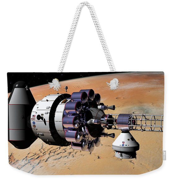 Inspection Over Mars Weekender Tote Bag