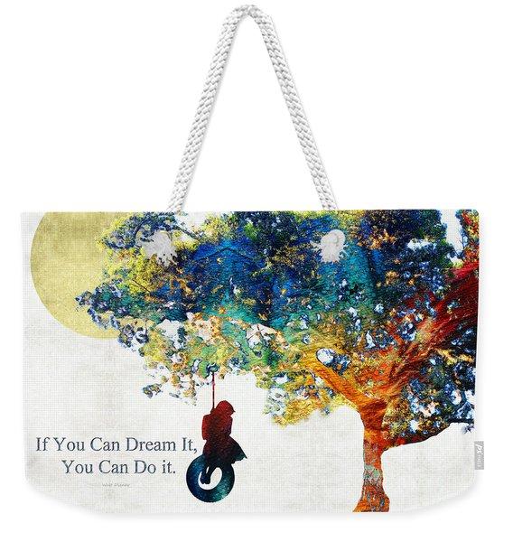 Inspirational Art - You Can Do It - Sharon Cummings Weekender Tote Bag