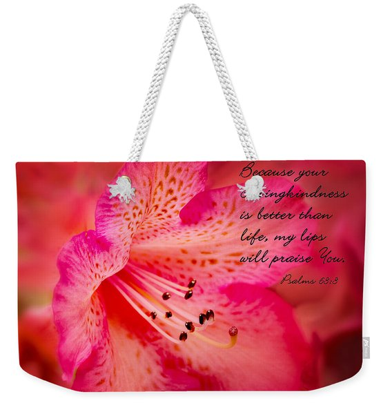 Inspirational Rhododendron Weekender Tote Bag