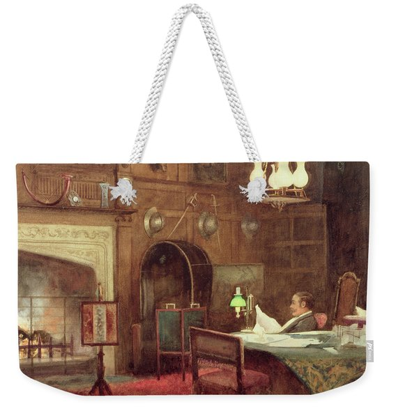 Interior Of A Panelled Hall Weekender Tote Bag