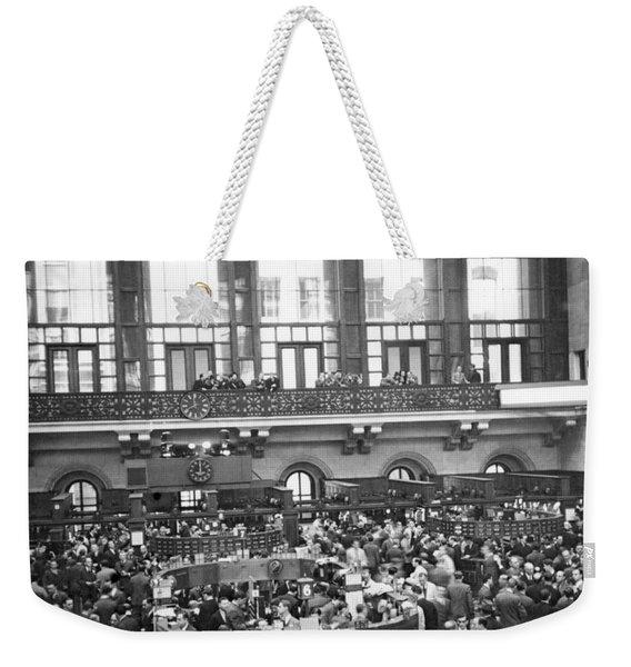 Interior Of Ny Stock Exchange Weekender Tote Bag