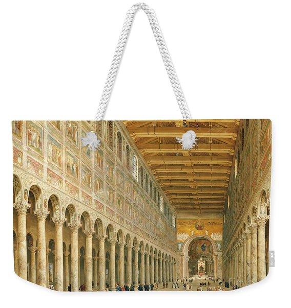 Interior Of San Paolo Fuori Le Mura Weekender Tote Bag