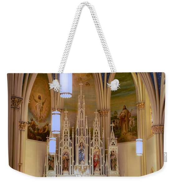 Interior Of St. Mary's Church Weekender Tote Bag