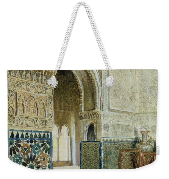 Interior Of The Alhambra  Weekender Tote Bag