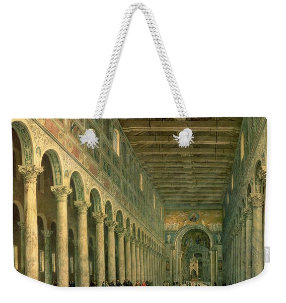 Interior Of The Church Of San Paolo Fuori Le Mura Weekender Tote Bag