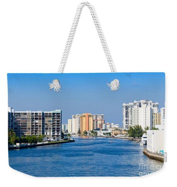 Intracoastal Waterway In Hollywood Florida Weekender Tote Bag