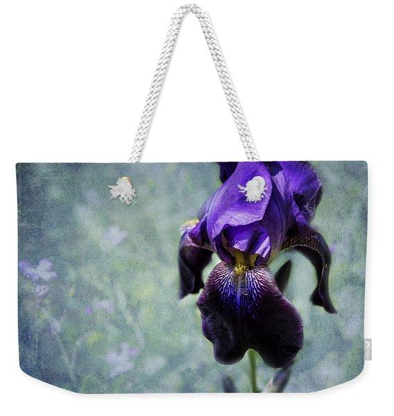 Iris - Purple And Blue - Flowers Weekender Tote Bag