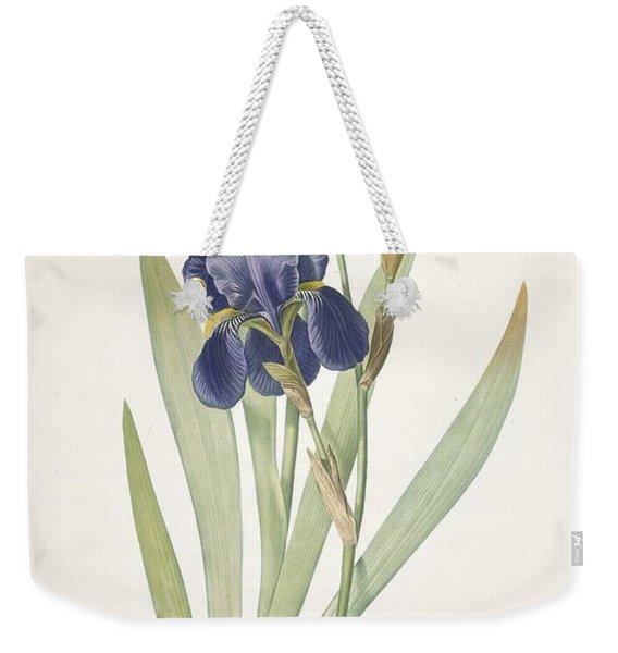 Iris Germanica Bearded Iris Weekender Tote Bag