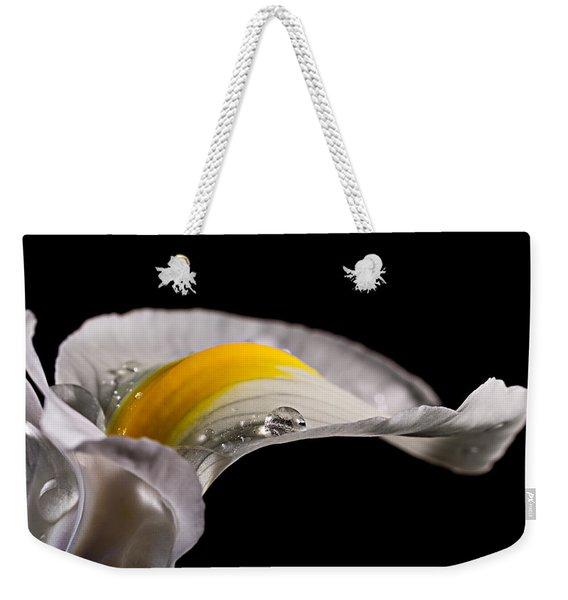 Iris With Water Weekender Tote Bag