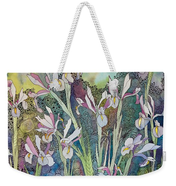 Irises And Doodles Weekender Tote Bag