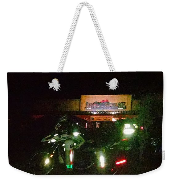 Iron Horse Lodge Evening Weekender Tote Bag