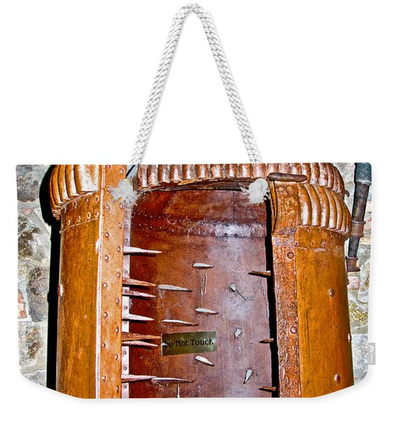 Iron Maiden Torture Chamber  In Dungeon Of Castello Di Amorosa In Napa Valley-california  Weekender Tote Bag