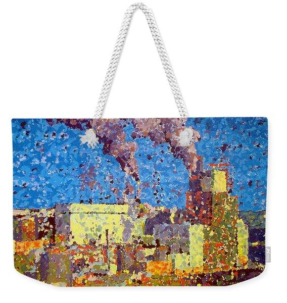 Irving Pulp Mill Weekender Tote Bag