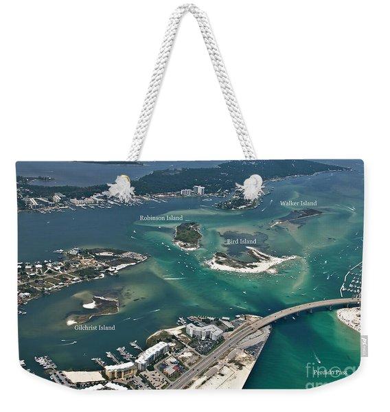 Islands Of Perdido - Labeled Weekender Tote Bag