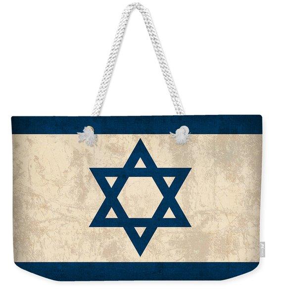 Israel Flag Vintage Distressed Finish Weekender Tote Bag