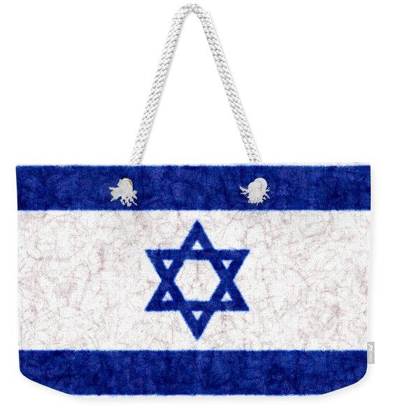Israel Star Of David Flag Batik Weekender Tote Bag
