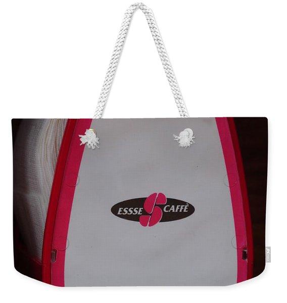 Italian Cafe Weekender Tote Bag