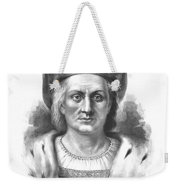 Italian Explorer Christopher Columbus Weekender Tote Bag